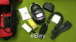 3M Helmet and ADFLO Air Purifying Respirator Assembly NEW