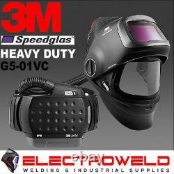 3M SPEEDGLAS G5-01 Respitory Welding Helmet Heavy Duty Adflo Air PAPR G5-01VC