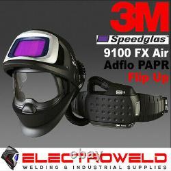 3M SPEEDGLAS WELDING HELMET 9100XXi FX FLIP UP ADFLO POWERED AIR RESPIRATOR PAPR