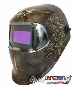 3M Speedglas 100V Series Welding Helmet Steel Rose Variable Shade 3 / 8-12