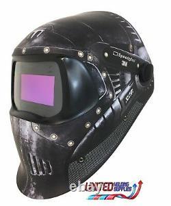 3M Speedglas 100V Series Welding Helmet Trojan Warr Variable Shade 3 / 8-12