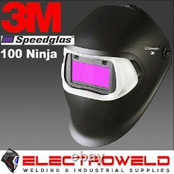 3m Speedglas 100v Ninja Welding Helmet Black Automatic Auto Darkening Mig Tig