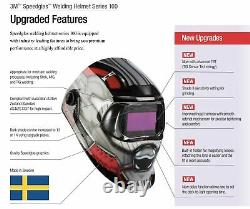 3m Speedglas 100v Trojan Welding Helmet Automatic Auto Darkening Graphic Warrior