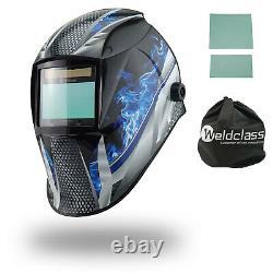 4 SENSOR Weldclass Promax 350 Fire Metal Automatic Welding Helmet -TIG MIG STICK