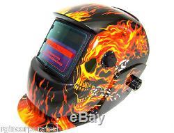 Arc Welder Machine 100 amp 110 V Flame Auto darkening Welding Helmet Skull