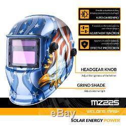Auto Darkening Welding Helmet Arc MMA Tig Mig Mask Grinding Welder Mask