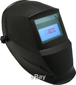 Auto Darkening Welding Helmet Solar Powered 9 to 13 With 2 Replaceable cover Lens