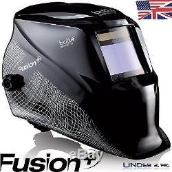Auto darkening welding helmet Bollé Safety FUSION + solar welders automatic mask