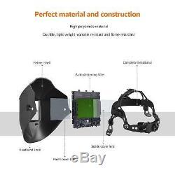 BST9 mask AUTO DARKENING WELDING/GRINDING HELMET big viewith4 sensor/DIN 4-13 Hood