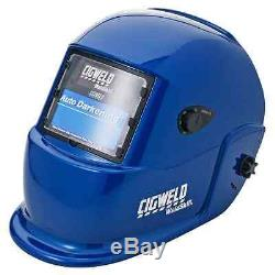Cigweld Auto Darkening Welding Helmet Blue Filter Lens Shade 9-13