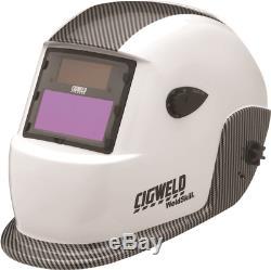 Cigweld WELDSKILL WELDING HELMET Auto-Darkening Filter Lens, White Carbon
