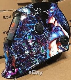 DMNP Solar Auto Darkening Certified Shade 6-13 Welding/Grinding Helmet 4 sensors
