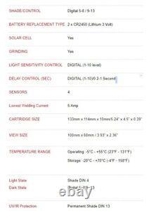 Digital Auto-darkening Welding Cartridge Lens Replacement Fits Miller Elite