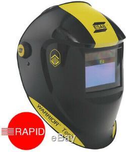 ESAB Warrior Tech Auto Darkening Welding Helmet Black, Shade 9 13