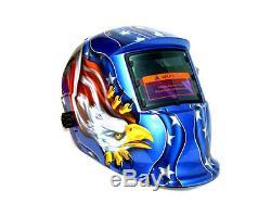 Eagle Auto Darkening Welding Helmet Ark Mig Mag Mask Blue Stars