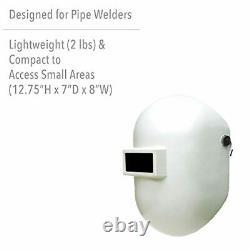 Fibre-Metal Pipeliner Fiberglass Welding Helmet with Rubber Headband (110PWE), W