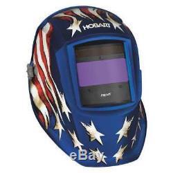 HOBART 770758 Auto Darkening Welding Helmet, Red G3322405