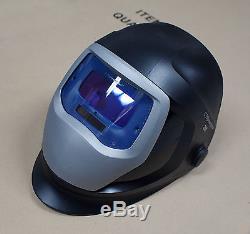 HQ 3M Speedglas 9100V Black Welding Helmet with Auto-Darkening Shades 5 8-13