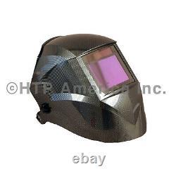 HTP Striker Supreme XL Carbon Fiber Auto Darkening Welding Helmet Hood Mask