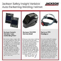 Jackson Safety 46131 Insight Variable Auto Darkening Welding Helmet, HaloX