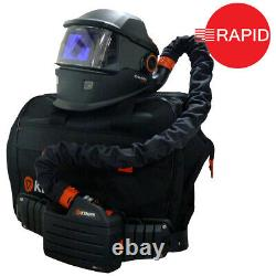 Kemppi Gamma GTH3 XFA Auto Darkening Helmet & PFU 210E PAPR System, Shades 8-15