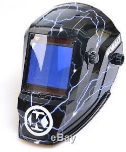 Kobalt Auto Darkening Mask Welder Shade Hydrographic Welding Helmet w Grind Mode