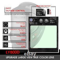 Large View True Color Solar Power Auto Darkening Welding Helmet TIG MIG ARC