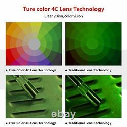 Large Viewing True Color Solar Powered Auto Darkening Welding Helmet, 4 Arc