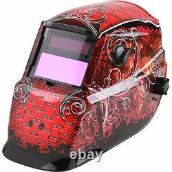 Lincoln Electric Auto-Darkening Welding Helmet with Grind Mode- Red Grunge