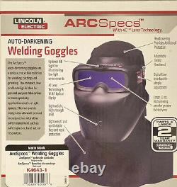 Lincoln Electric K4643-1 ArcSpecs Weld / Mask Auto Darkening Goggles. Ship Free