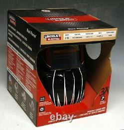 Lincoln Electric Red Fierce K3063-1 Welding Helmet + Premium KH952 Gloves