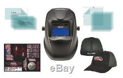 Lincoln Electric Viking 1740 Black Welding Helmet K3282-2 (With FREE Lincoln Hat)