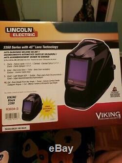 Lincoln Electric Viking 3350 Black Auto-Darkening Welding Helmet K3034-3