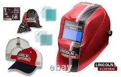 Lincoln K3495-3 Viking 1740 ReCode Auto-Darkening Welding Helmet, Free Hat