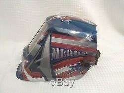 Lincoln Viking 3350 All American Auto Darkening Welding Helmet Flag design