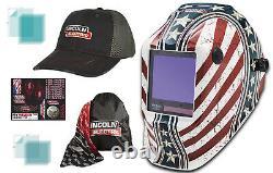 Lincoln Viking 3350 Daredevil Welding Helmet K3683-4 With Free Hat & Accessories