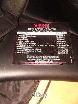 Lincoln Viking 3350 Series Black Auto-Darkening Helmet