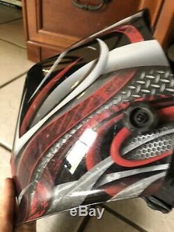 Lincoln Viking 3350 Twisted Metal Auto Darkening Welding Helmet with4C (K3248-4)