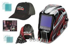 Lincoln Viking 3350 Twisted Metal Welding Helmet K3248-4 With Free Hat