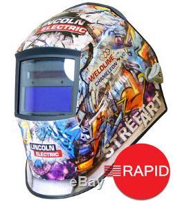 Lincoln Weldline Street Art Chameleon 3VO Auto Darkening Welding Helmet 9-13