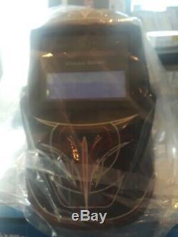 MILLER ELECTRIC Welding Helmet Auto-Darkening Type Nylon 271349 Black/Red/White