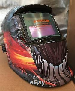 MNT Solar Auto Darkening Welding Helmet Arc Tig Mig Mask Grinding %Welder$