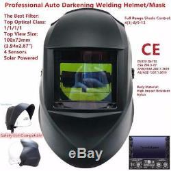 Mask Welding Auto Darkening Helmet Solar Grinding Tig Pro Welder Full Range New
