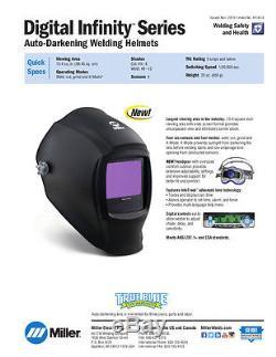 Miller 271329 Black Digital Infinity Auto Darkening Welding Helmet