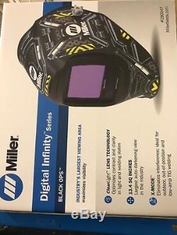 Miller #280047 Black Ops Digital Infinity Auto Darkening Welding Helmet F/S