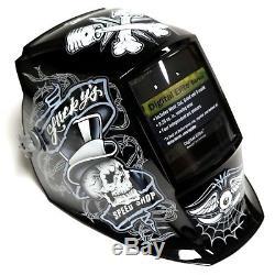 Miller 281001 Digital Elite Lucky's Speed Shop Auto Darkening Welding Helmet