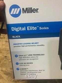 Miller Black Digital Elite Auto Darkening Welding Helmet (281000) Brand new