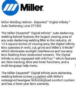 Miller Departed Digital Infinity Auto Darkening Welding Helmet 271332