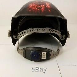 Miller Digital Elite Auto Darkening Welding Helmet Black with Flames