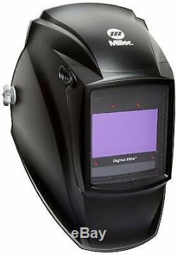 Miller Digital Elite Welding Helmet 257213 Auto Darkening Black